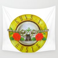 guns Wall Tapestries featuring guns n roses best decoration  by customgift
