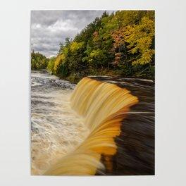 TAHQUAMENON FALLS AUTUMN PHOTO - MICHIGAN UPPER PENINSULA FALL IMAGE - LANDSCAPE PHOTOGRAPHY Poster