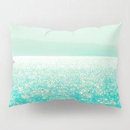 Winter Aqua Sparkling Seashore Pillow Sham