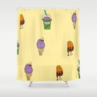 icecream Shower Curtains featuring IceCream Summer by aileencopyright