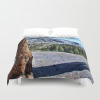 yosemite Duvet Covers featuring Yosemite park by Claude Gariepy