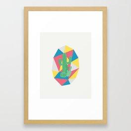 Geo Cactus Framed Art Print