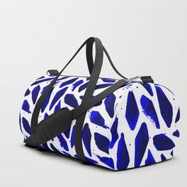 Cobalt Blue Ink Blots Duffle Bag