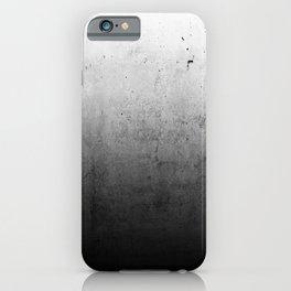 Black Ombre Concrete Texture iPhone Case
