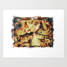 Cinderella's Jaq image transfer Art Print