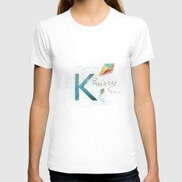 K is for Kite - Letter K Monogram T-shirt