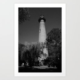 Currituck Lighthouse (B&W) Art Print