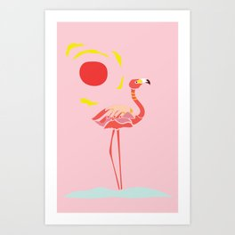 A Flamingo is a Handful Art Print
