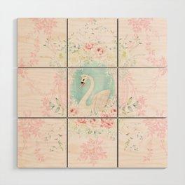 Romantic Swan Wood Wall Art