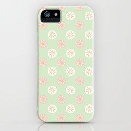 Daisy Polka Dot Seamless Pattern iPhone Case