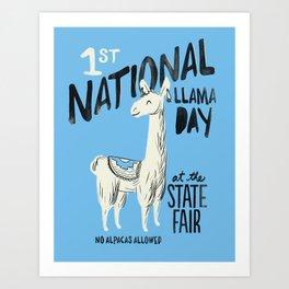 National Llama Day Art Print