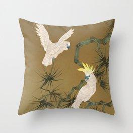 Wild Cockatoos Throw Pillow
