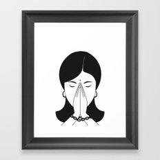Modern woman Framed Art Print