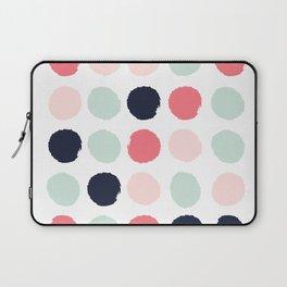 Painted dots trendy color palette minimal polka dots decor nursery home Laptop Sleeve