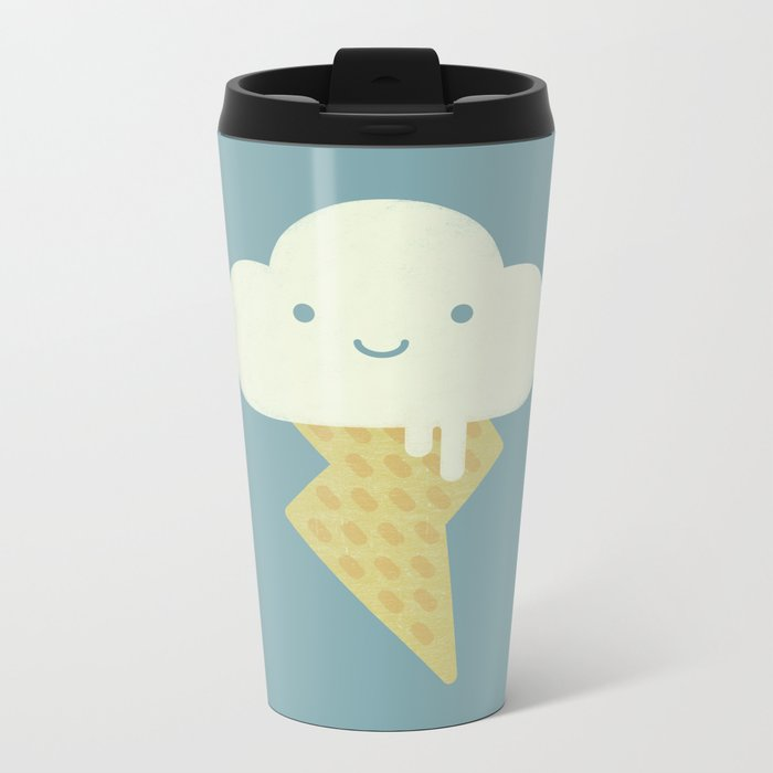Stormy and Sweet Metal Travel Mug