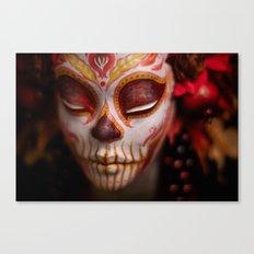 Crimson Harvest Muertita Detail Canvas Print
