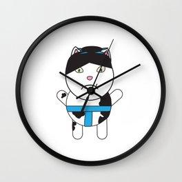 Sumo Kitty Wall Clock