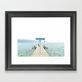 Embarcadère du Léman Framed Art Print
