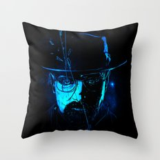 Mr. White (Crystal Blue) Throw Pillow