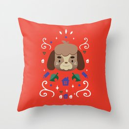 Animal Crossing: Digby Throw Pillow