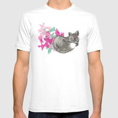 Foxy White MEDIUM Mens Fitted Tee
