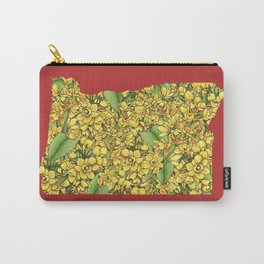 Oregon in Flowers Carry-All Pouch