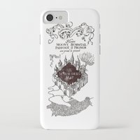 marauders iPhone & iPod Cases featuring MARAUDERS MAP by ThreeBoys