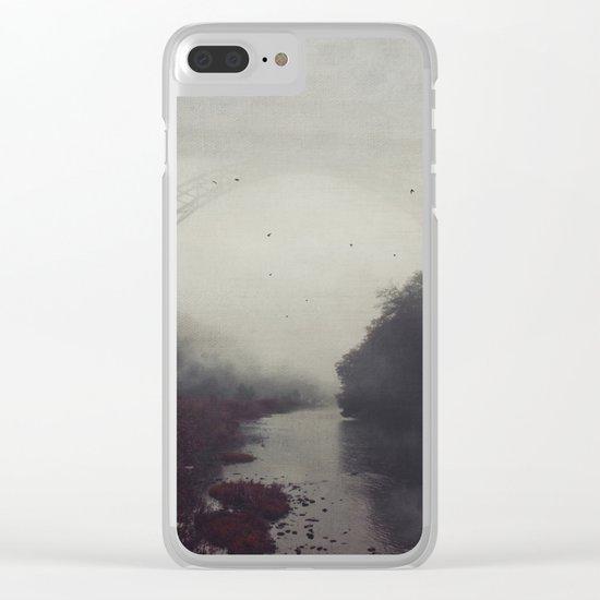 Bridge and River in Fog Clear iPhone Case