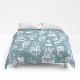 Cactus Pattern Teal Comforters