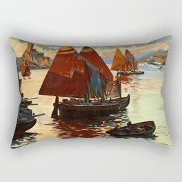 Lake Garda - Vintage Poster Rectangular Pillow