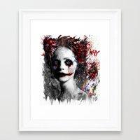 harley quinn Framed Art Prints featuring Harley Quinn by ururuty