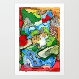 Abstract Builder Art Print