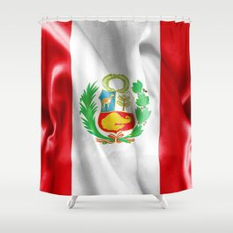 Peru Flag Shower Curtain