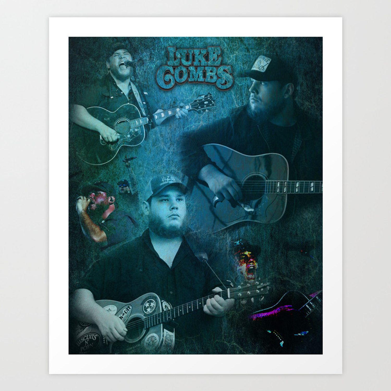 Luke Combs Luke Combs Art Print Art Print By Lyricalperceptions Society6