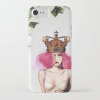 bitch iPhone & iPod Cases featuring Queen Bitch by Jenny Liz Rome
