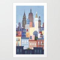 NYC stacked Art Print