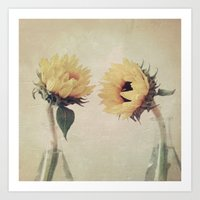 friendship Art Prints featuring Friendship by Marian Hilditch