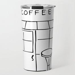 Little Coffee House // Cafe Sketch Travel Mug