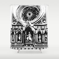 florence Shower Curtains featuring Florence by Mad Love