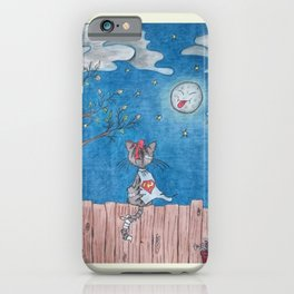 Sometimes even the moon is laughing iPhone Case