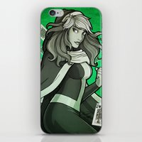rogue iPhone & iPod Skins featuring Rogue by Miss-Lys