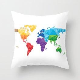 World of geometric concept design  Throw Pillow