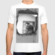 a sparrow White Mens Fitted Tee MEDIUM