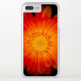 Red Flower by the Black Sea Clear iPhone Case