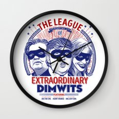 The League of Extraordinary Dimwits Wall Clock