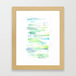 170527 Back to Basic Pastel Watercolour 13  |Modern Watercolor Art | Abstract Watercolors Framed Art Print