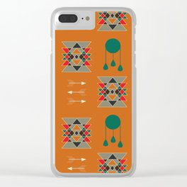 dream-catcher blue yellow Clear iPhone Case