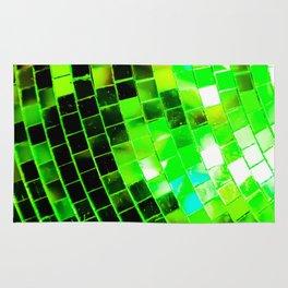 Funky Green Disco Ball Rug