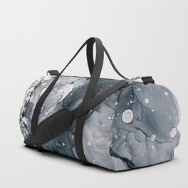 Icy Payne's Grey Abstract Bubble / Snow Painting Duffle Bag