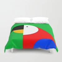 parrot Duvet Covers featuring PARROT by Alex Birk